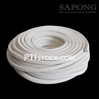 ยางฟองน้ำEPDM สีขาว  15.5x15.5 mm