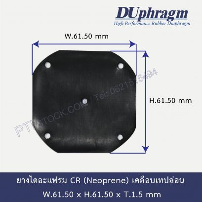 PTFE Coated CR Rubber Diaphragm