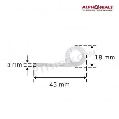 ซีลตู้อบ P-Profile 45x18 mm