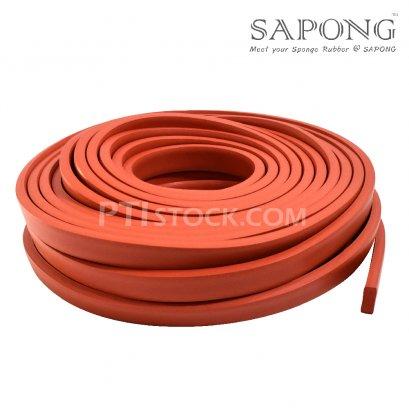 ยางฟองน้ำซิลิโคนสีแดงอิฐ 10x25 mm