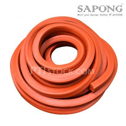 ยางฟองน้ำซิลิโคนสีแดงอิฐ 25X25 mm