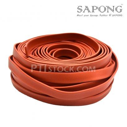 ยางฟองน้ำซิลิโคนสีแดงอิฐ 5X30mm