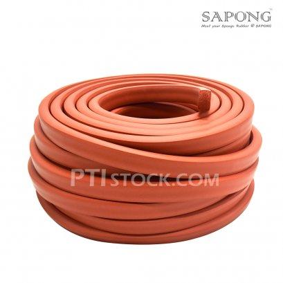 ยางฟองน้ำซิลิโคนสีแดงอิฐ 15x25 mm