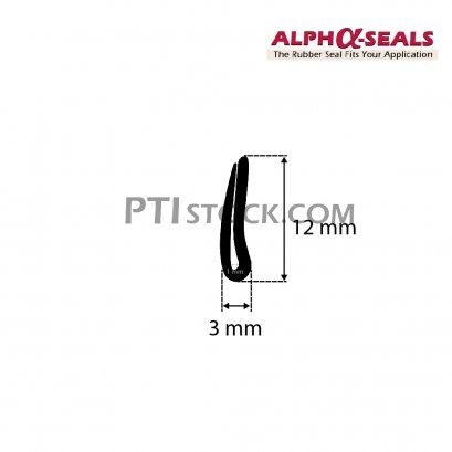 ซีลยางกันบาด EPDM 3X12 mm.