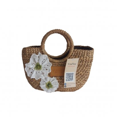 Straw Bags for Women/ Straw Bags / Round Handle Ring Tote Retro Summer Beach Rattan bag