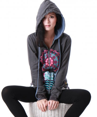 WJ15154 / Women Hoodie Jackets / WinterJackets / Women's Jackets / FREE SHIPPING