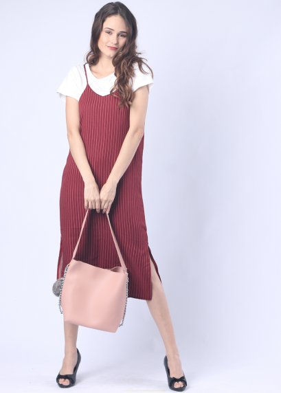 URE-18WD138 / Minimal /Singlet Dress / Basic dress / Casual dress /Summer dress / Spaghetti dress