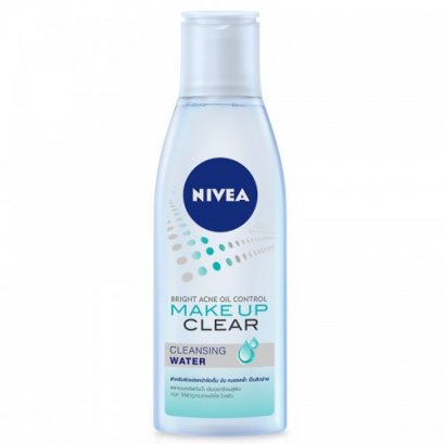 Nivea Bright Acne Oil Control Makeup Clear Cleansing Water 200ml.