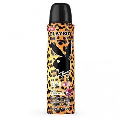 PLAYBOY PLAY IT WILD  SKINTOUCH INNOVATION 24H DEODORANT BODY SPRAY FOR HER