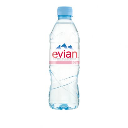 EVIAN EAU MINERALE NATURELLE NATURAL MINERAL WATER