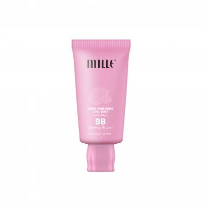 Mille Super Whitening Gold Rose BB Cream SPF30 PA++ Glowing Nature
