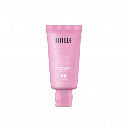 Mille Super Whitening Gold Rose BB Cream SPF30 PA++ Silky Ivory