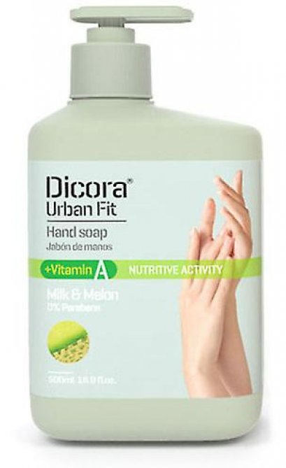 DICORA HAND SOAP VITAMIN A MILK & MELON 500 ML.