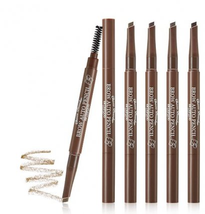 skinfood choco powder brow auto pencil #4 Red Brown