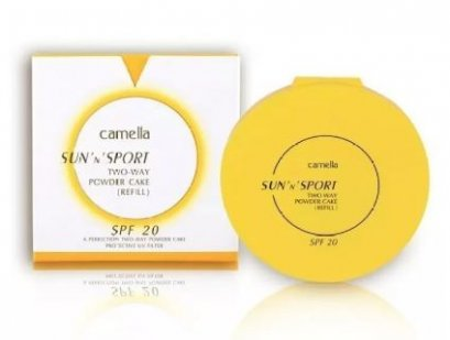 Camella Sun and Spot Two Way Powder Cake SPF 20 รีฟิล #3 ผิวคล้ำ