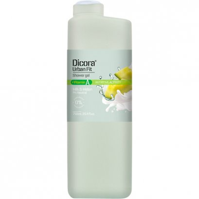 DICORA SHOWER GEL VITAMIN A MILK & MELON  750 ML.