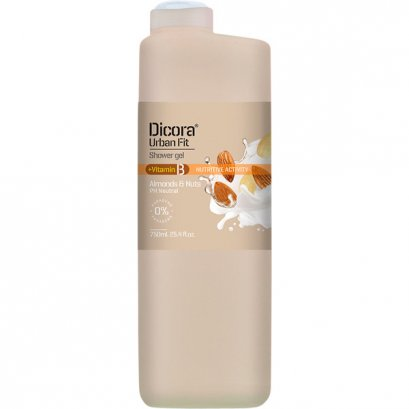 DICORA SHOWER GEL VITAMIN B ALMONDS & NUT 750 ML.