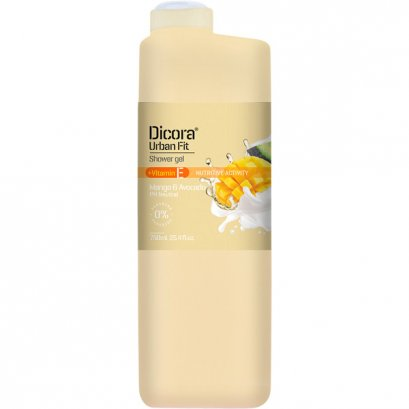 DICORA SHOWER GEL VITAMIN E MANGO & AVOCADO 750 ML.