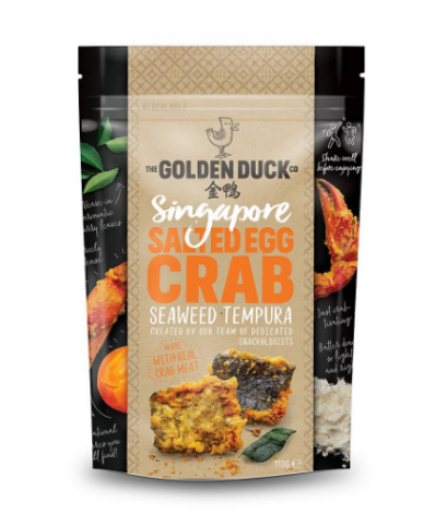 THE GOLDEN DUCK SALTED EGG CRAB SEAWEED TEMPURA 110 G.
