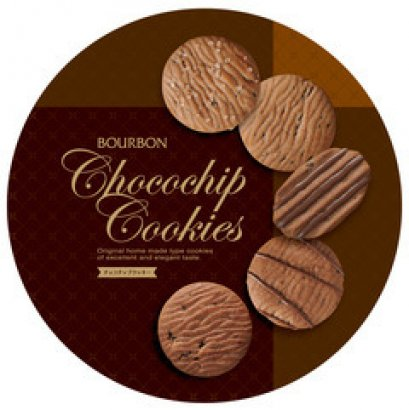BOURBON CHOCO CHIP COOKIES TIN 318 g.