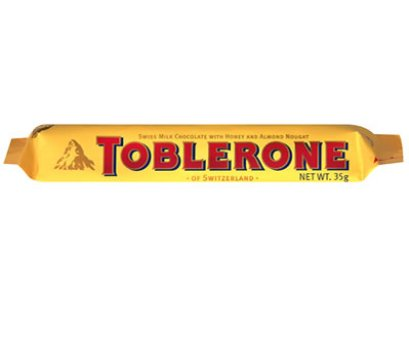 Toblerone Milk Chocolate Honey & Almond 35 g.
