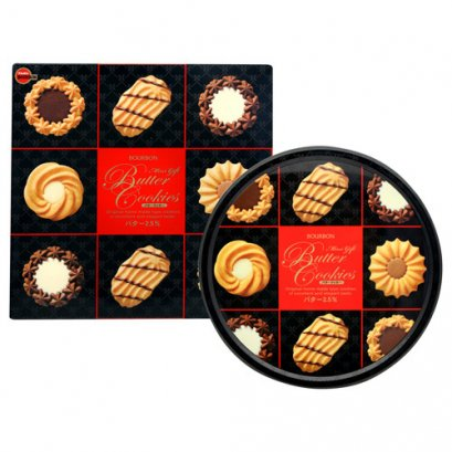 BOURBON MINI GIFT BUTTER COOKIES TIN 310 g.
