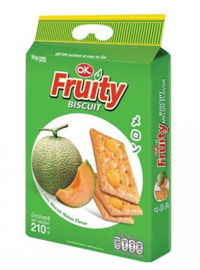 OK Fruity Biscuit  Melon Flavor 210 g.