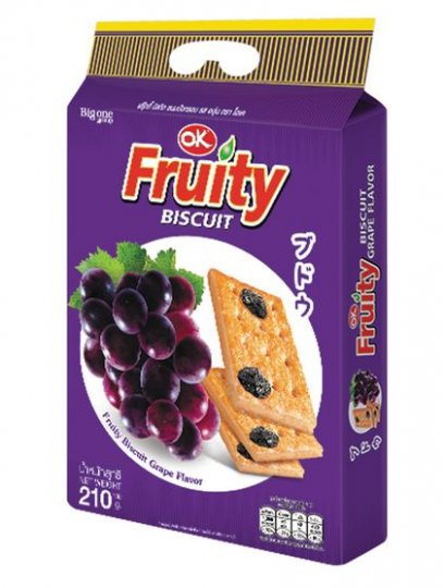 OK Fruity Biscuit  Grape Flavor 210 g.