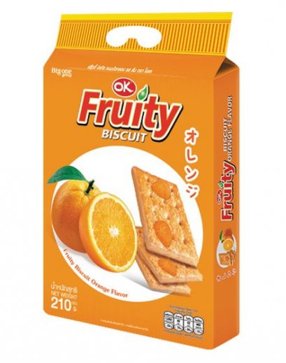 OK Fruity Biscuit  Orange Flavor 210 g.