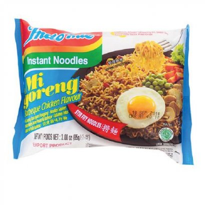INDOMIE mi goreng barbeque chicken flavour 85 g.
