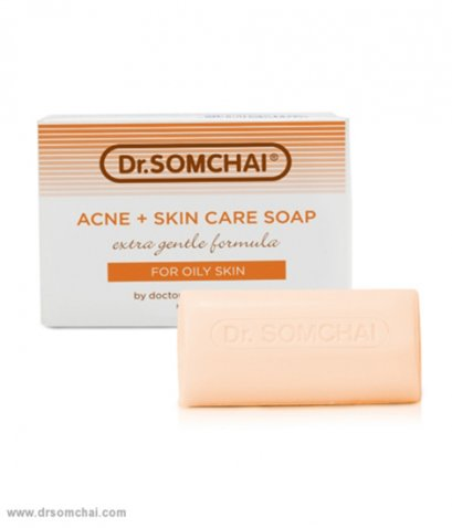 Dr.SOMCHAI ACNE+SKIN CARE SOAP FOR OILY SKIN - EXTRA GENTLE FORMULA 80 G.