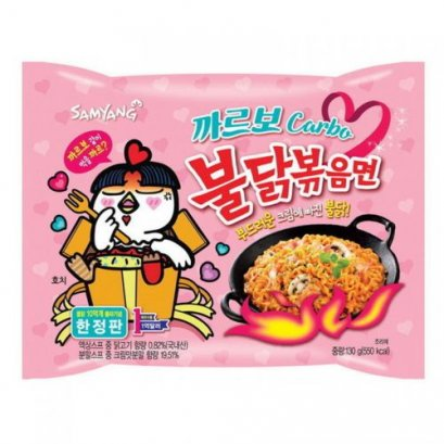 SAMYANG Hot Chicken Ramen Carbonara Flavor 130 g.