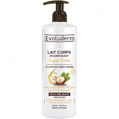 EVOLUDERM BODY LOTION ARGAN DIVIN 500 ML.