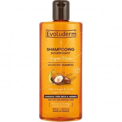 EVOLUDERM SHAMPOO ARGAN DIVIN 400 ML.