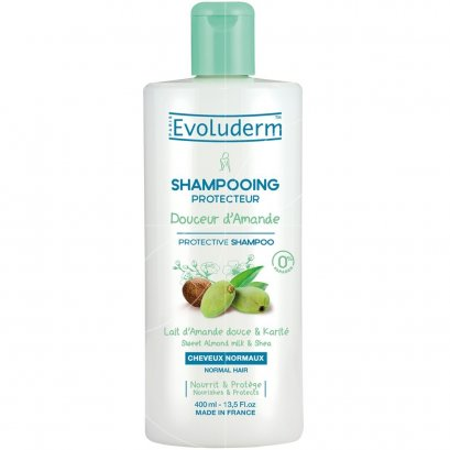 EVOLUDERM SHAMPOO DOUCEUR AMANDE 400 ML.