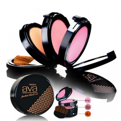 MISTINE AVA POCKET BLUSH ON 3 COLOR