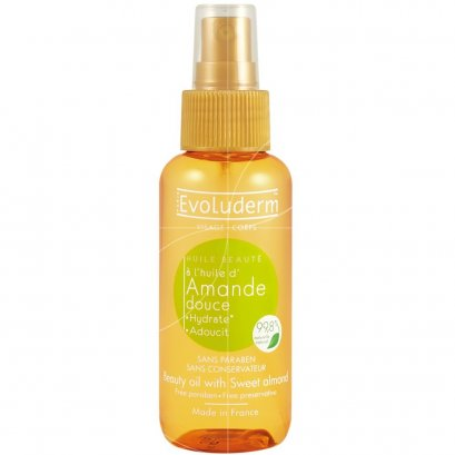 EVOLUDERM  BEAUTY OIL SWEET ALMOND 100 ML.