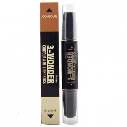 MISTINE 3 WONDER CONTOUR & HI-LIGHT STICK 3.9 G.