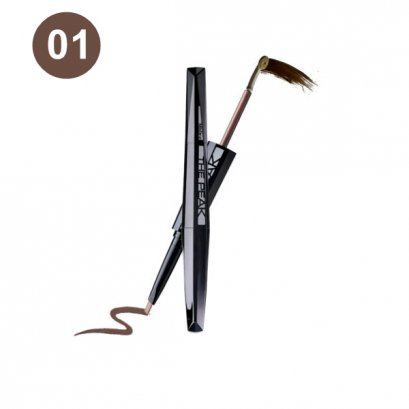 MISTINE THE PEAK TIARA EYEBROW & PENCIL LINER #NO.01 สีน้ำตาลเข้ม