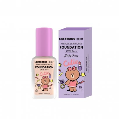 MILLE MIRACLE SKIN COVER FOUNDATION SPF 30 PA++ #01 SILKY IVORY