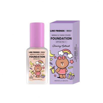 MILLE MIRACLE SKIN COVER FOUNDATION SPF 30 PA++ #02 GLOWING NATURAL