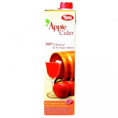 TIPCO 100% FRUIT JUICE APPLE CIDER  AND POMEGRANATE JUICE WITH GRAPE SEED EXTRACTS