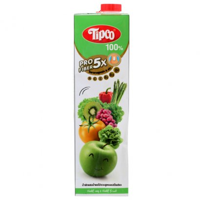 Tipco Profiber Mixed Vegetable And Fruit Juice Green Apple Formula