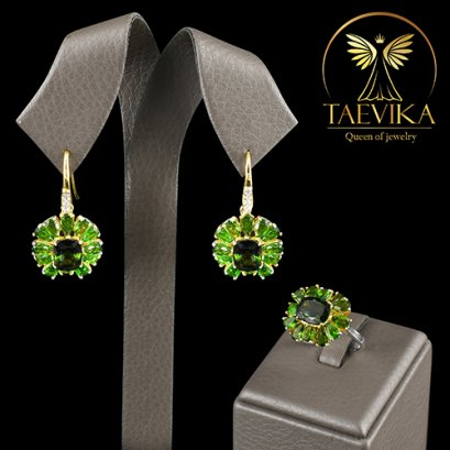 Green Chrome Diopside Set