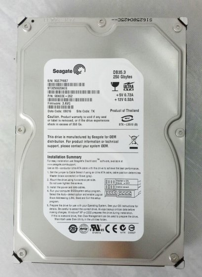 HDD 250GB IDE