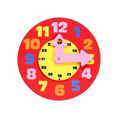 นาฬิกาสอนเวลา 24 ชม.สีแดง