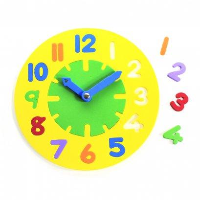 นาฬิกาสอนเวลา 24 ชม.สีเหลือง