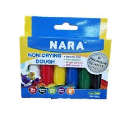 แป้งโดว์ไม่แห้ง จาก นารา 6 สี ในกล่อง