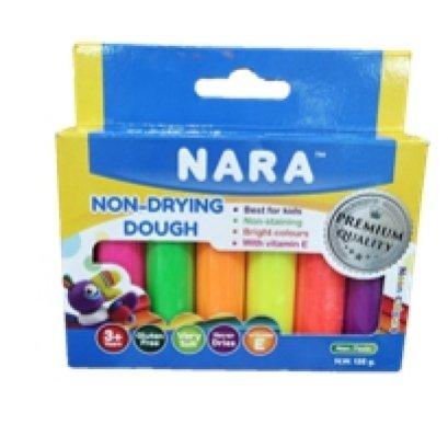แป้งโดว์ไม่แห้ง จาก นารา 6 สี ในกล่อง (สี NEON)