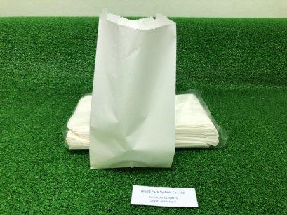 ถุงกระดาษสีขาว ขนาด ก 13 x ย 25 x ส 7 ซม.